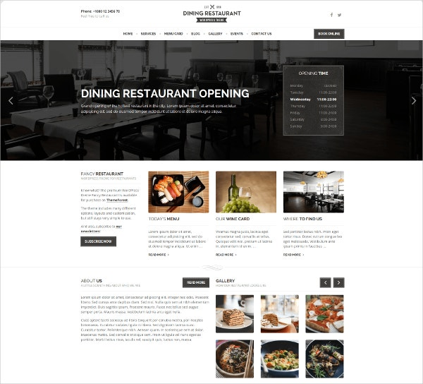 restaurant chefs wordpress theme