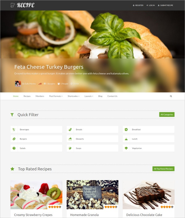 Delicious Restaurant Chefs WordPress Template