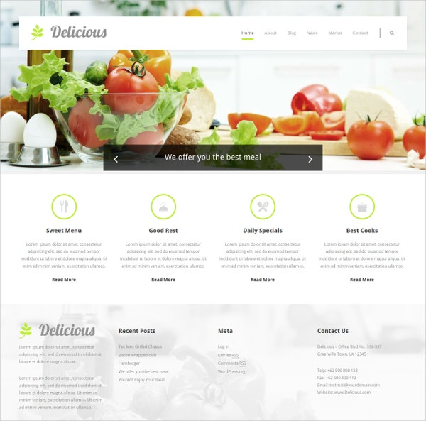 Delicious Chefs WordPress Theme