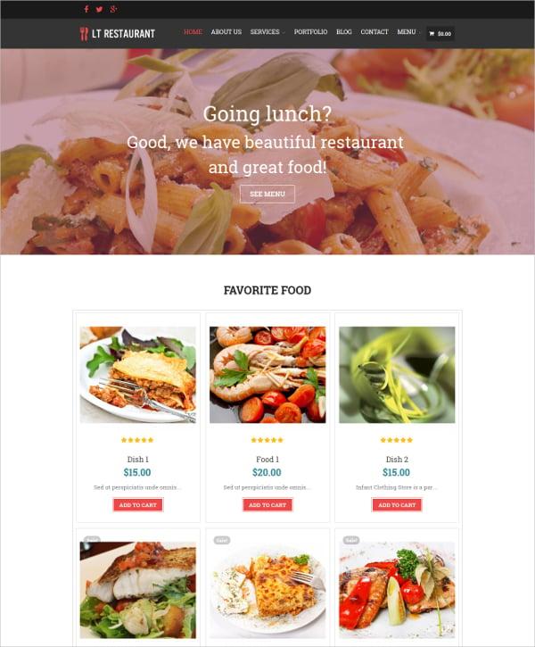premium restaurant chef wordpress theme
