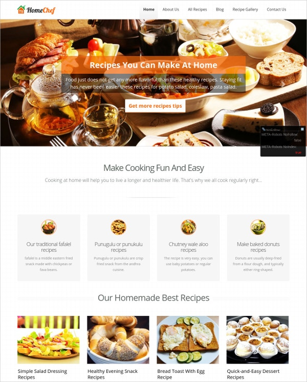 Home Chef WordPress Template