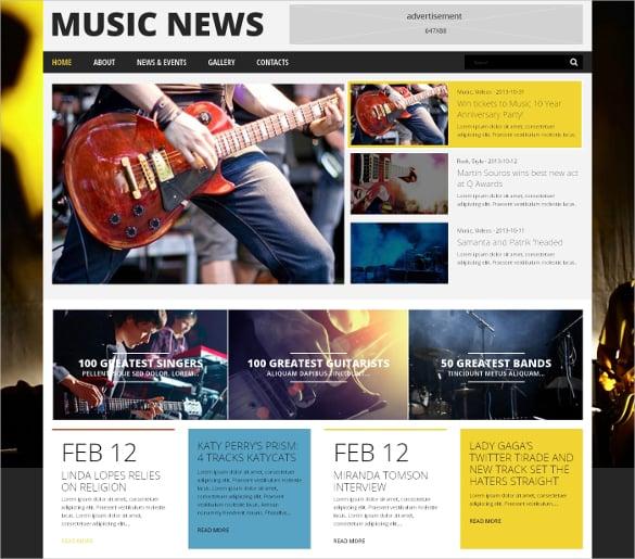 Music Fan Review WordPress Theme