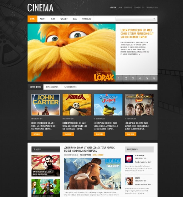 Movie Revie WordPress Theme