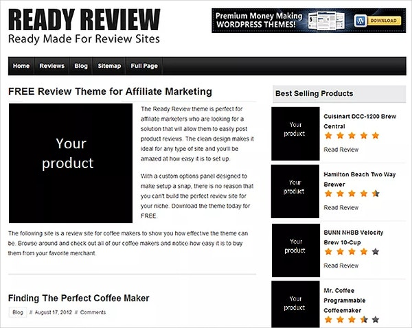 Ready Review Site WordPress Template