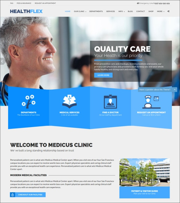 Premium Physician Health Care WordPress Template