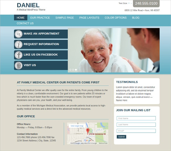 Physician Medical Medical WordPress Website Theme