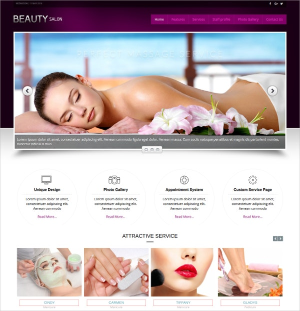 premium massage therapy joomla template