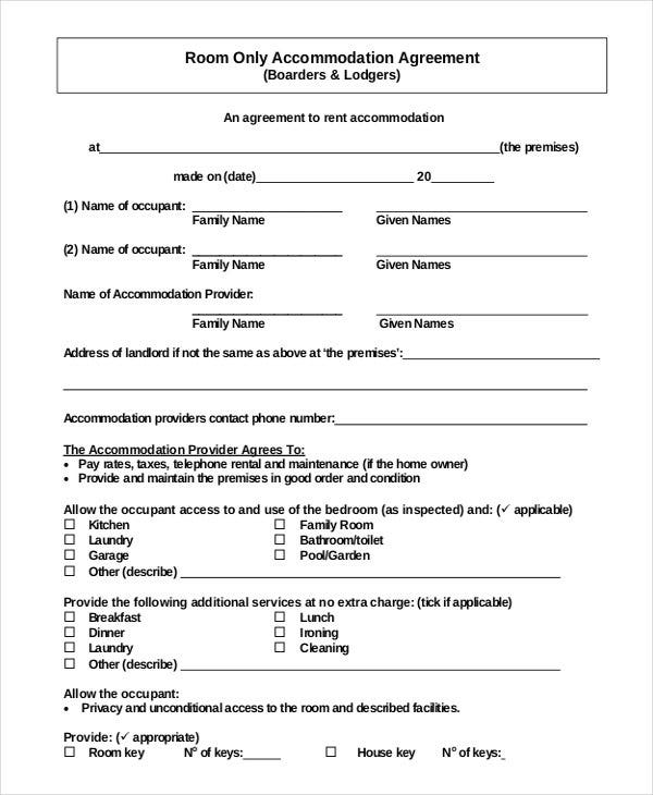 Simple Room Rental Agreement Form Free  MonclerFactoryOutletsCom