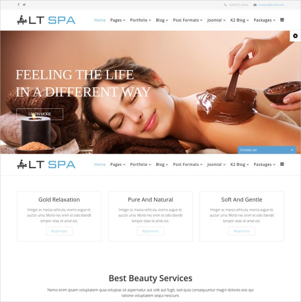spa massage therapy joomla template
