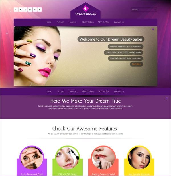 dream massage therapist joomla theme