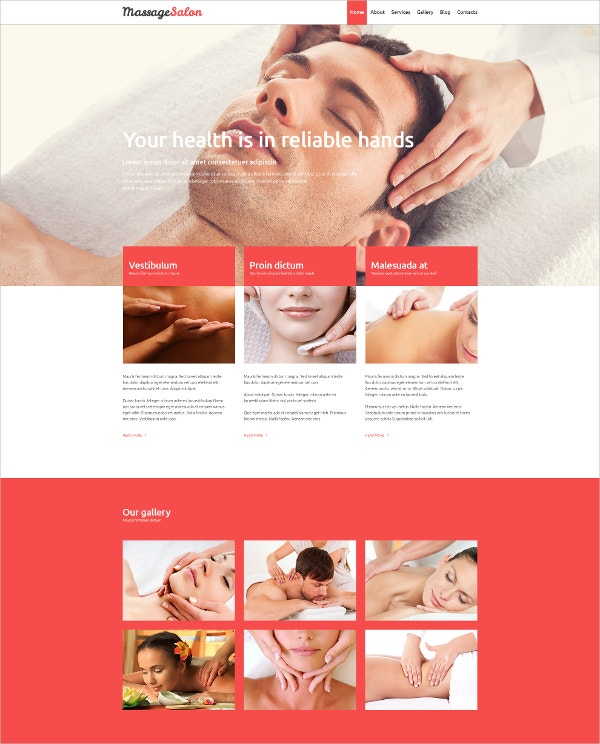 responsive massage therapy joomla template