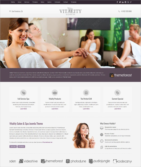 Vitality Massage Therapy Joomla Theme