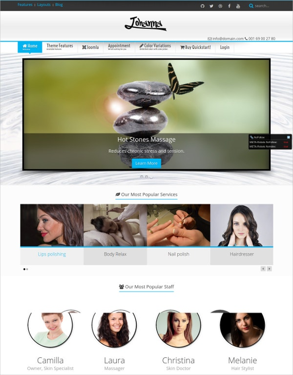 hard stone massage joomla template