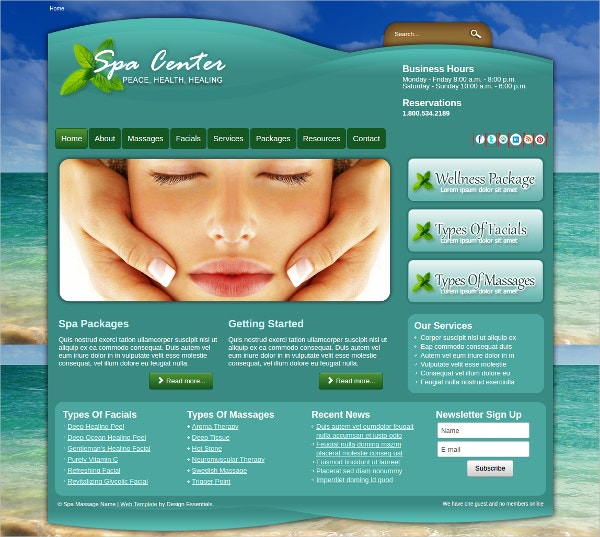 responsive spa massage center joomla template1