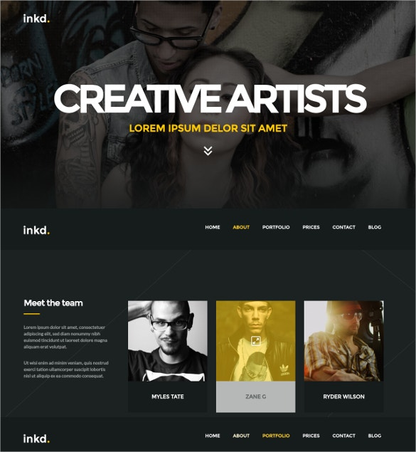 One-Page Tattoo Studio WordPress Theme