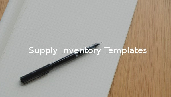 supply inventory template