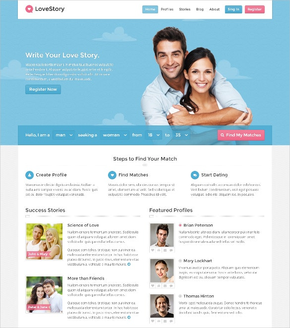 wp dating template