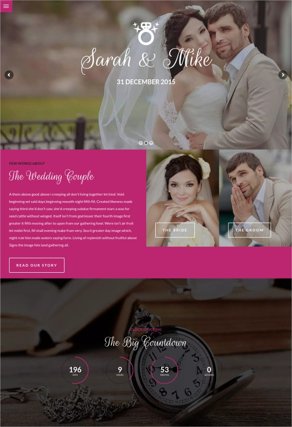 Wedding & Dating WordPress Template