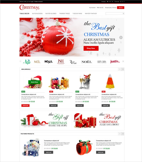 Responsive Entertainment Christmas OpenCart Theme
