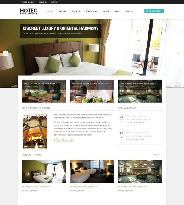 Hotel & Spa Drupal Template