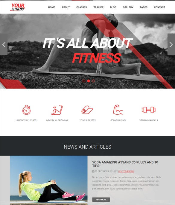 spa fitness club drupal theme