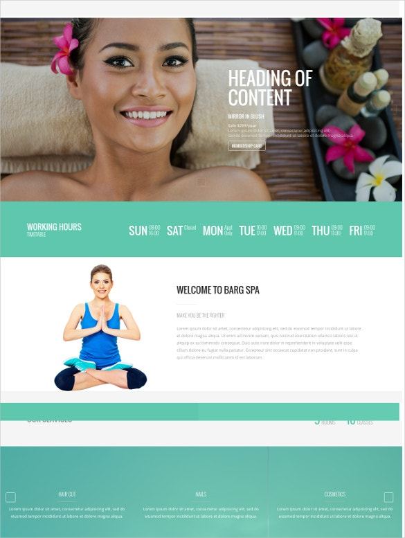 Multipurpose One Page Spa Drupal Template