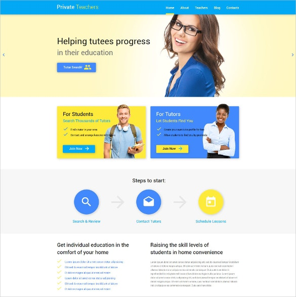 Teacher Help WordPress Theme.