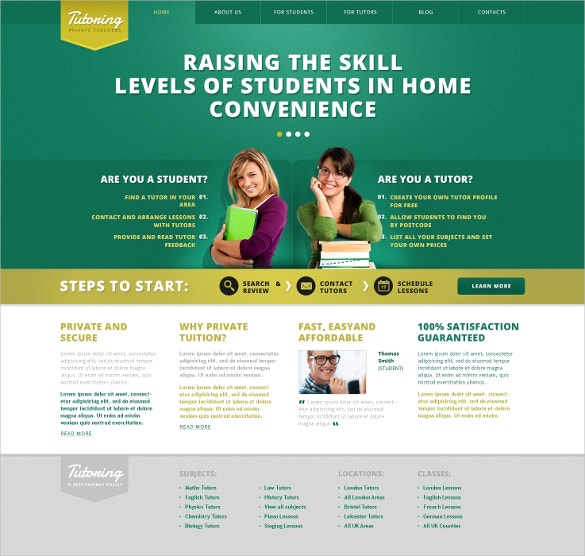 Tutoring Teacher WordPress Theme
