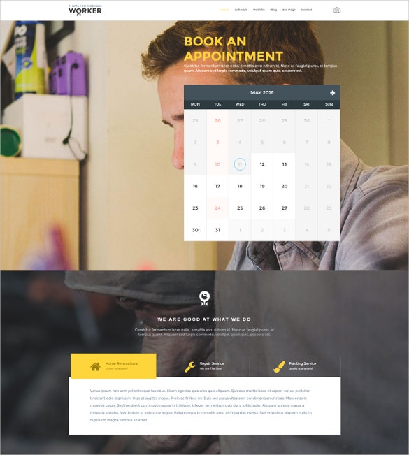 Business Training Teacher WordPress Template