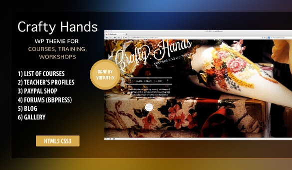 Craft Teacher WordPress Template