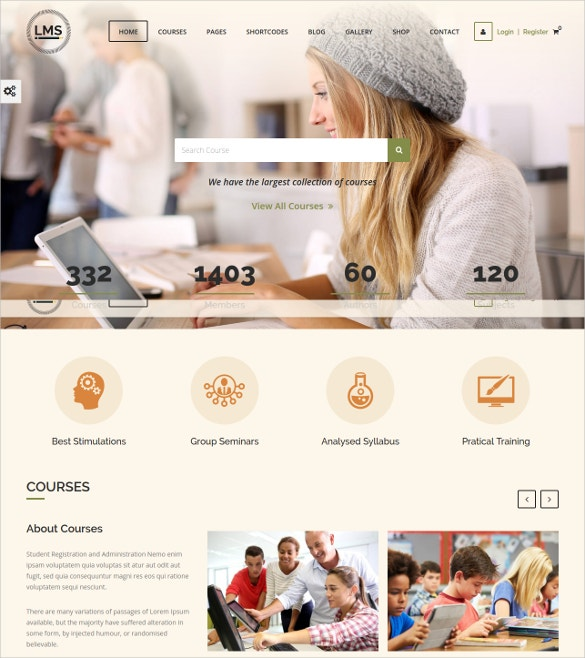 Management Teacher WordPress Template