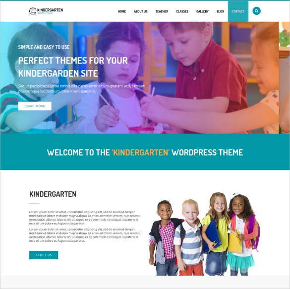 Play School Teacher WordPress Template