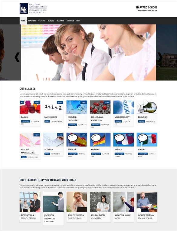 School Teacher WordPress Theme
