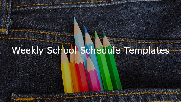 weeklyschoolscheduletemplates