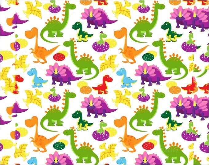 112680 baby dinosaurs pattern