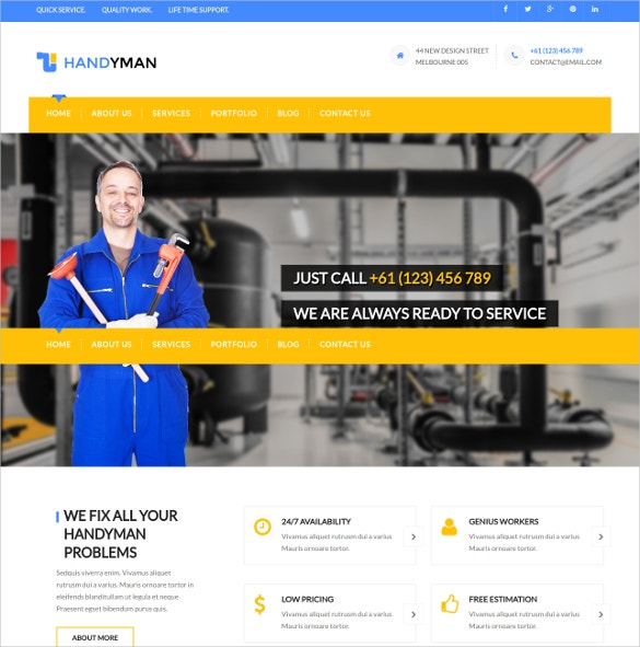 Construction Plumbing Joomla Template