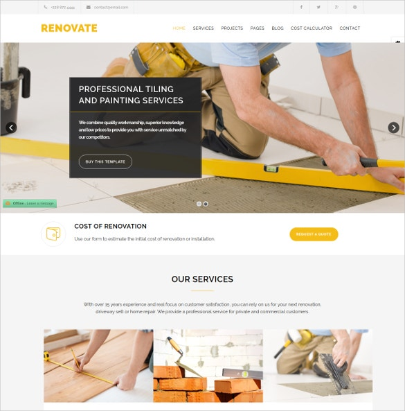 Construction Renovation Plumber Joomla Template