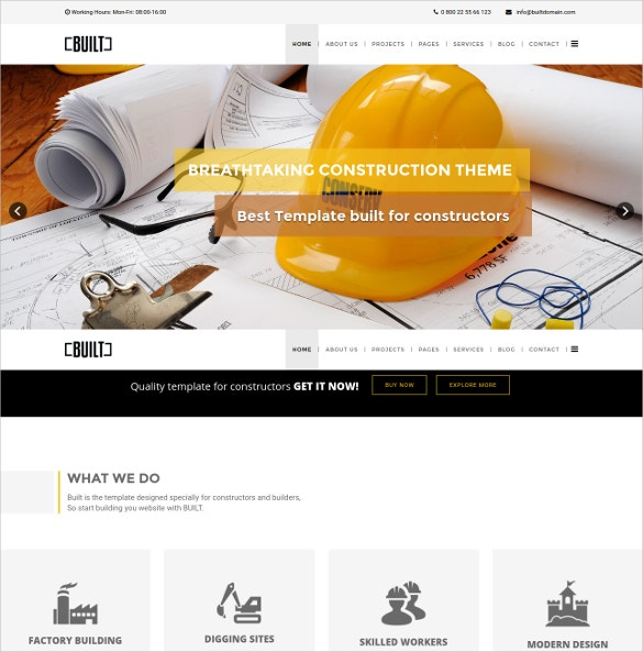 Construction Business Plumber Joomla Template