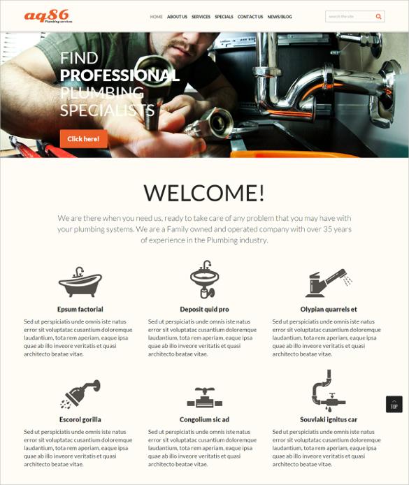 Professional Plumbing Joomla Template