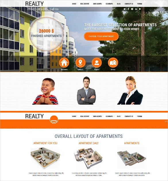 full screen real estate drupal template