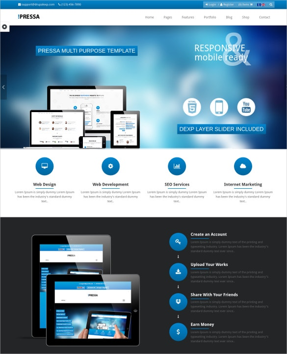 eCommerce Mobile Store Drupal Theme