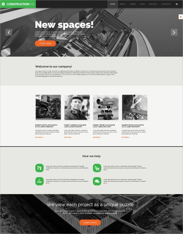 Construction Engineer Joomla Template