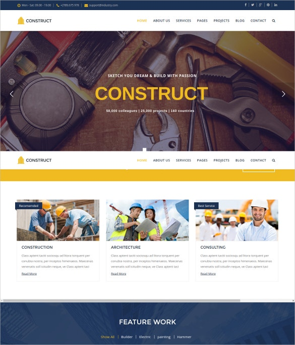 Engineer Construction Joomla Template