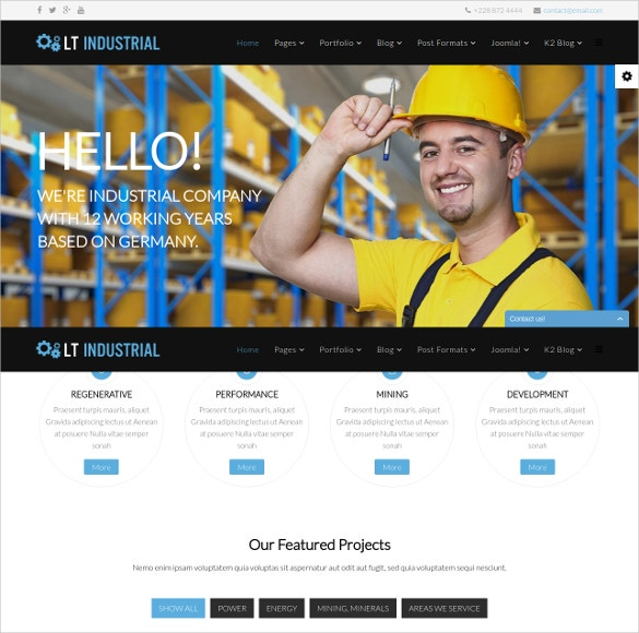 Joomla Construction Engineer Template