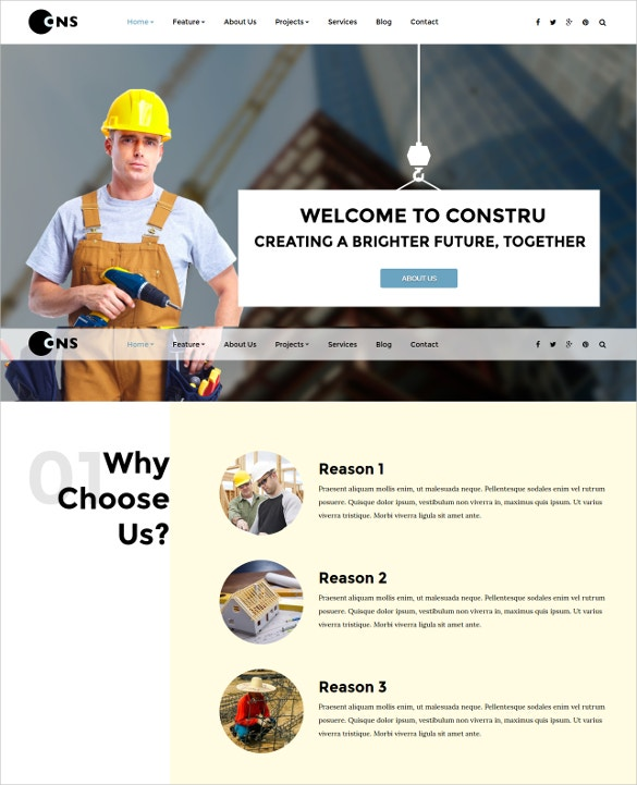 Project Construction Engineer Joomla Template