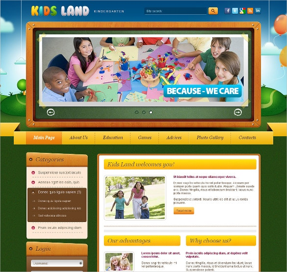 Kids Land Kindergarten Joomla Template