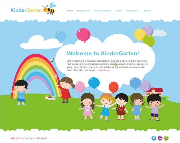 kindergarten playing joomla template