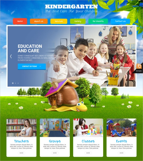 kids kindergarten joomla template