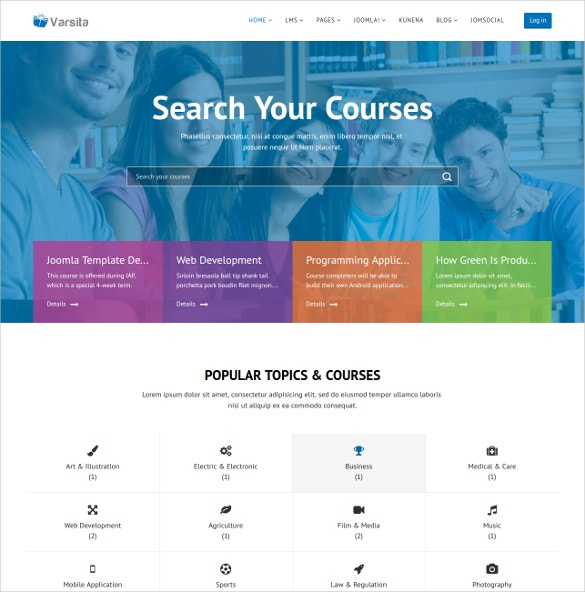 education course joomla template
