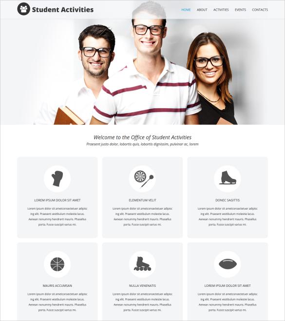Student Portal Joomla Template